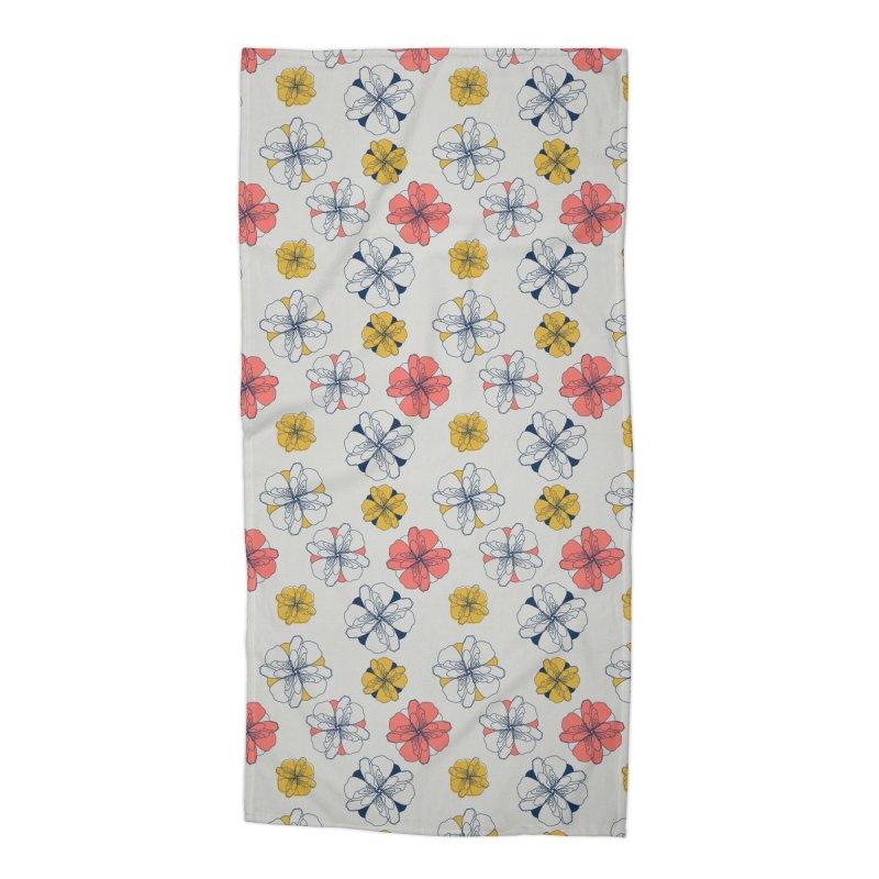 Springtime Floral Accessories Beach Towel by Svaeth's Artist Shop