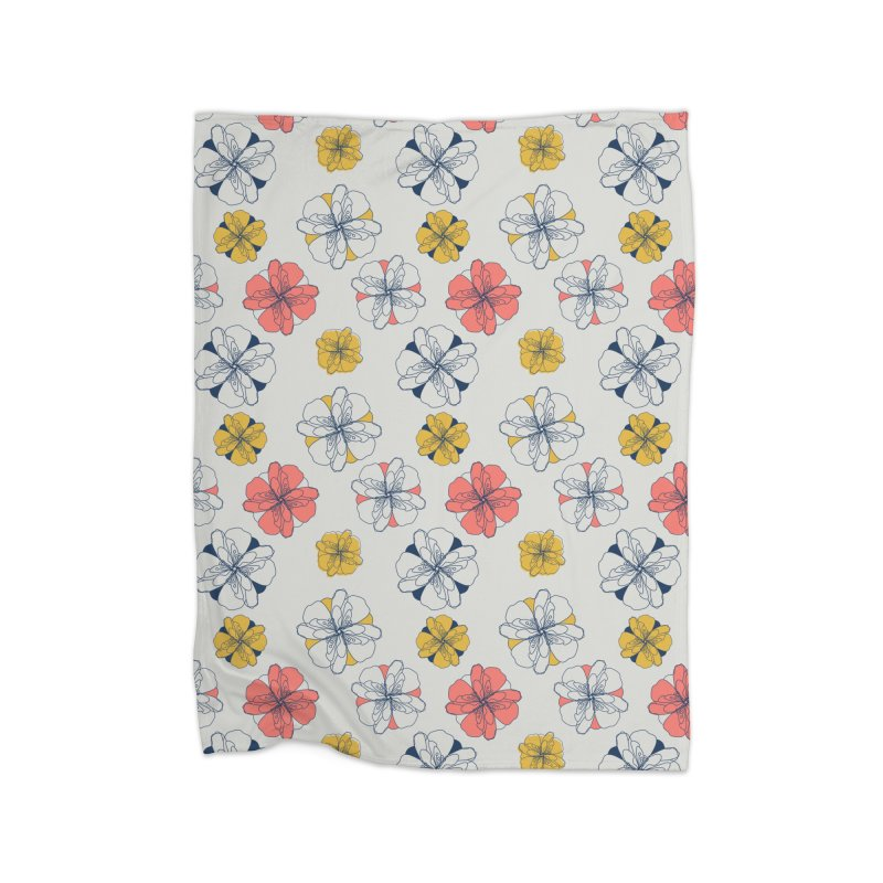 Springtime Floral Home Fleece Blanket Blanket by Svaeth's Artist Shop