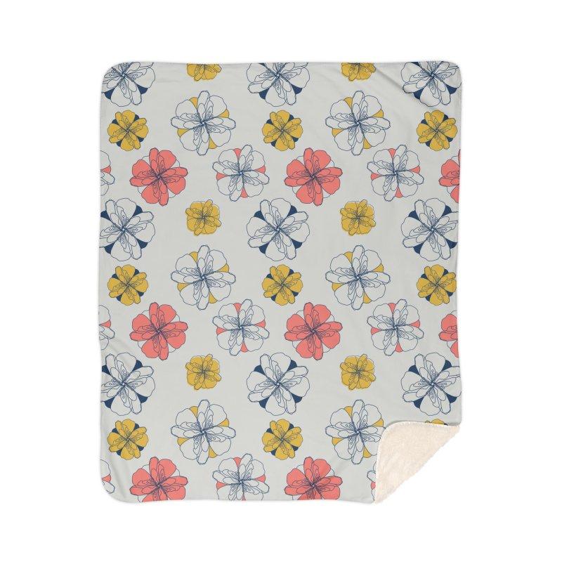 Springtime Floral Home Sherpa Blanket Blanket by Svaeth's Artist Shop