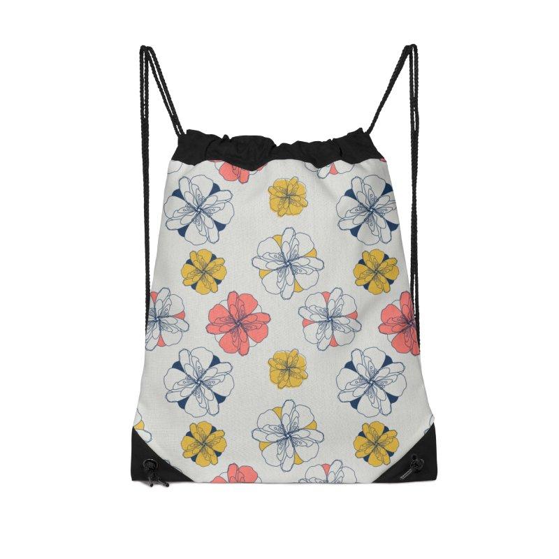 Springtime Floral Accessories Drawstring Bag Bag by Svaeth's Artist Shop