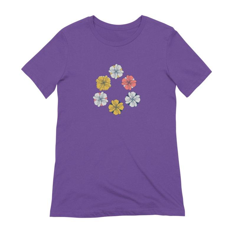 Springtime Floral Women's Extra Soft T-Shirt by Svaeth's Artist Shop