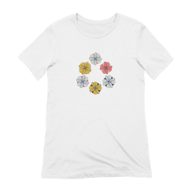 Springtime Floral Women's Extra Soft T-Shirt by Svaeth's Artist Shop