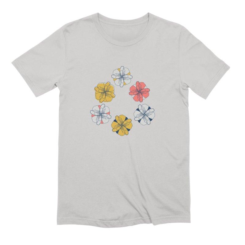 Springtime Floral Men's Extra Soft T-Shirt by Svaeth's Artist Shop