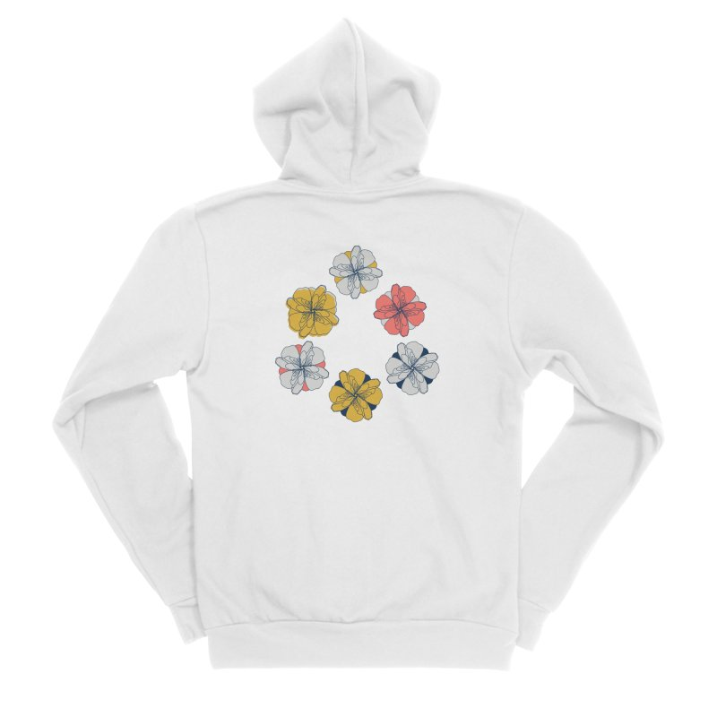 Springtime Floral Men's Sponge Fleece Zip-Up Hoody by Svaeth's Artist Shop