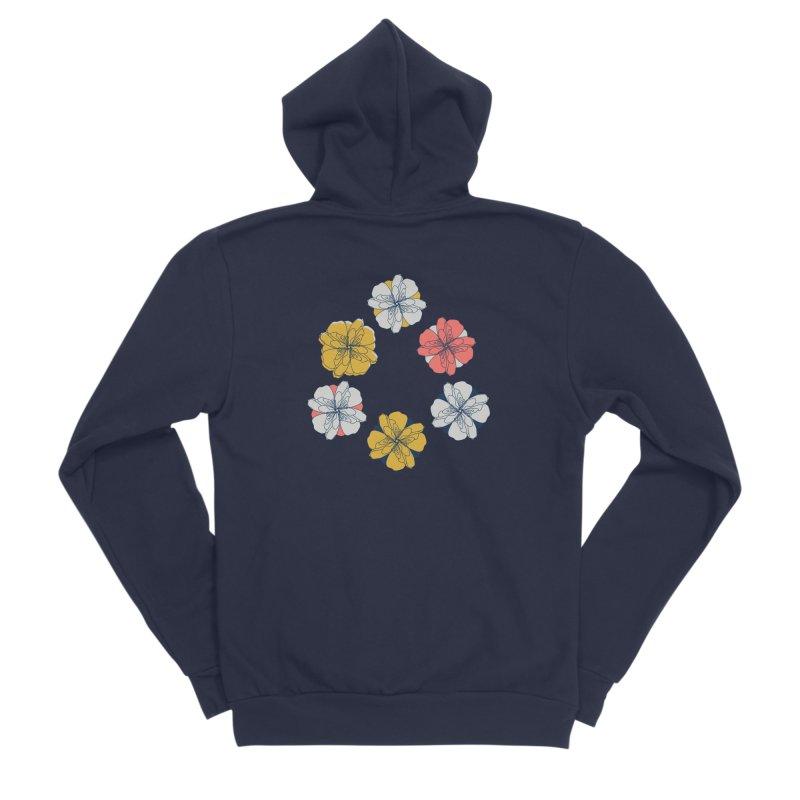 Springtime Floral Men's Sponge Fleece Zip-Up Hoody by Svaeth's Artist Shop