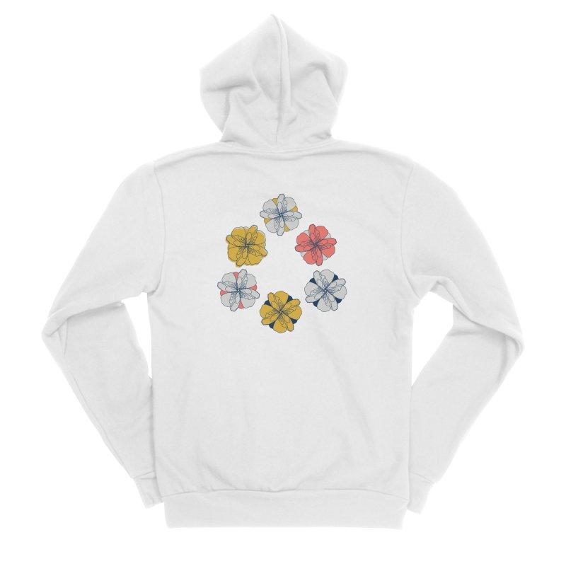 Springtime Floral Women's Sponge Fleece Zip-Up Hoody by Svaeth's Artist Shop