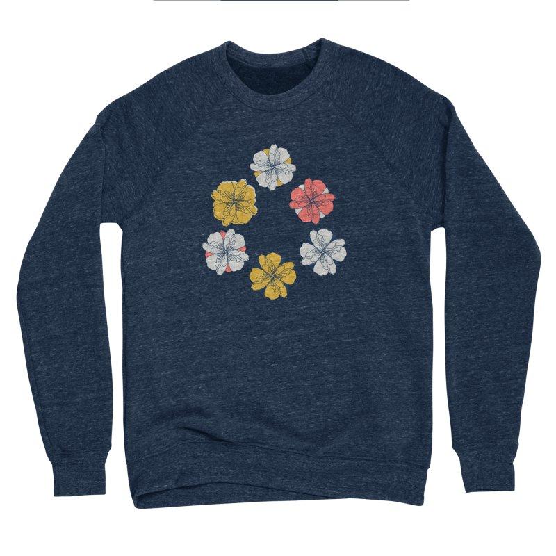 Springtime Floral Men's Sponge Fleece Sweatshirt by Svaeth's Artist Shop