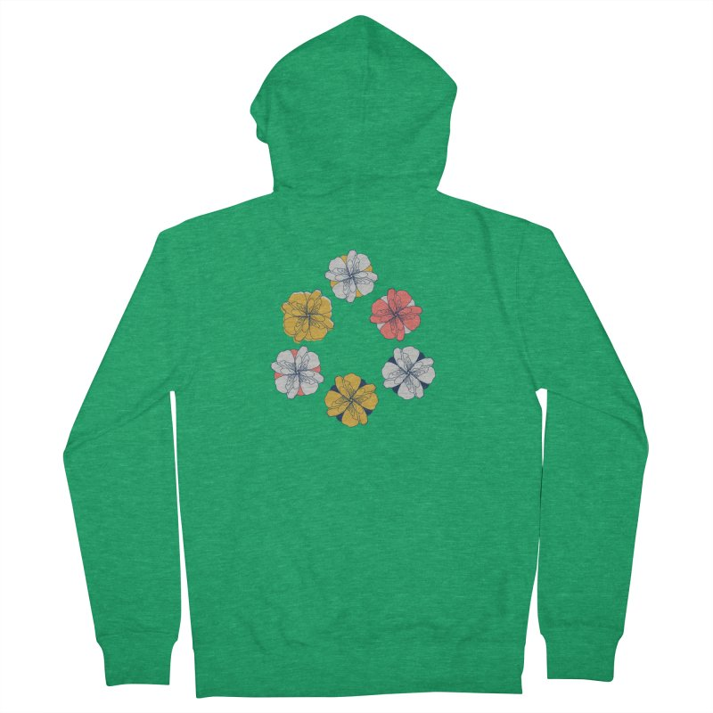 Springtime Floral Men's Zip-Up Hoody by Svaeth's Artist Shop