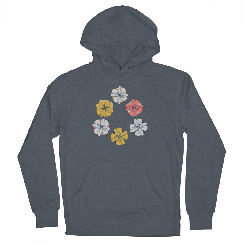 Springtime Floral Women's French Terry Pullover Hoody by Svaeth's Artist Shop