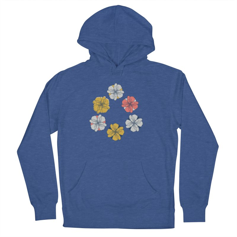Springtime Floral Men's French Terry Pullover Hoody by Svaeth's Artist Shop