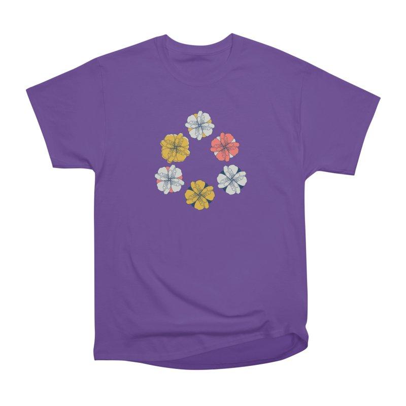 Springtime Floral Women's Heavyweight Unisex T-Shirt by Svaeth's Artist Shop