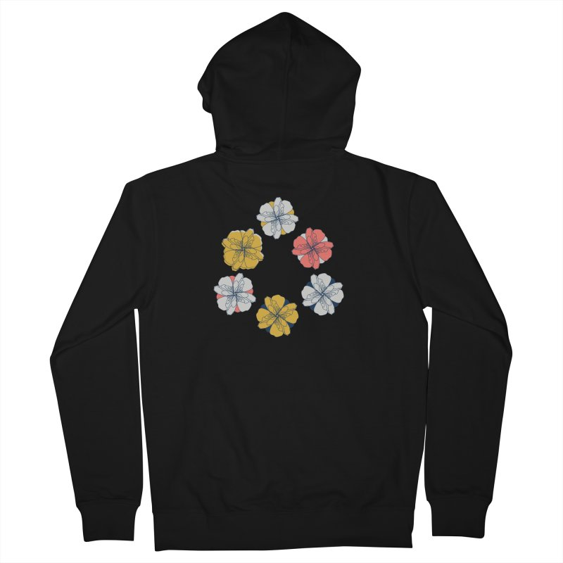 Springtime Floral Women's French Terry Zip-Up Hoody by Svaeth's Artist Shop
