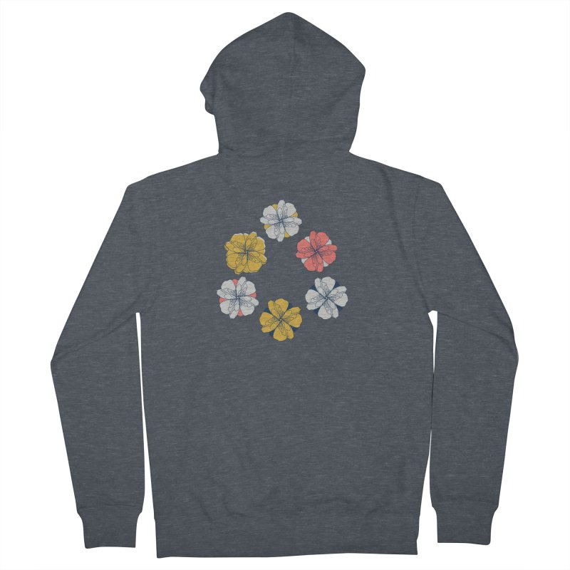 Springtime Floral Men's French Terry Zip-Up Hoody by Svaeth's Artist Shop