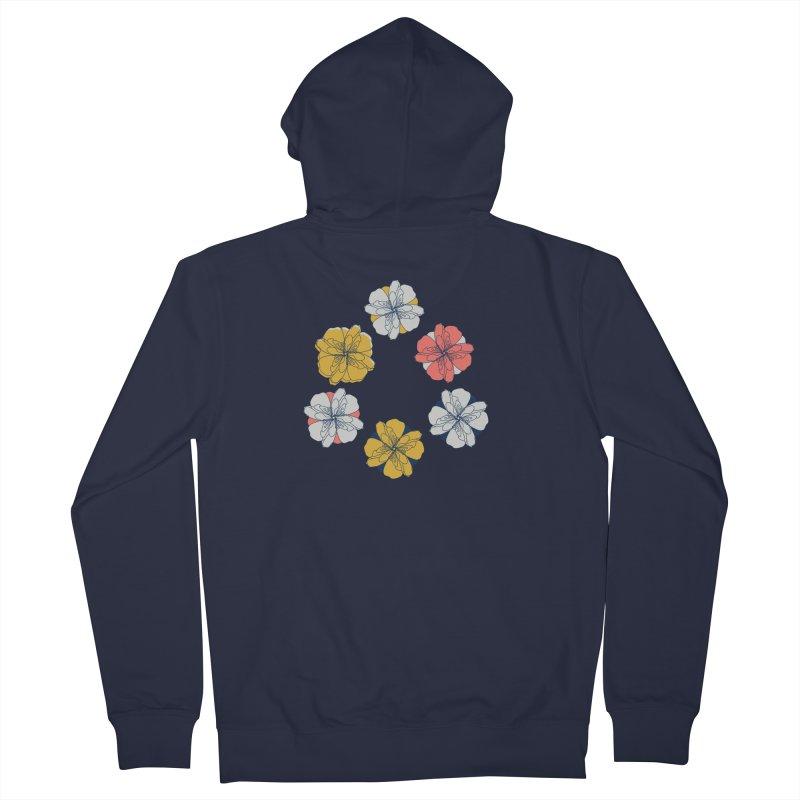 Springtime Floral Men's Zip-Up Hoody by Svaeth's Artist Shop