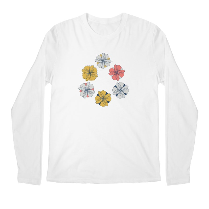 Springtime Floral Men's Longsleeve T-Shirt by Svaeth's Artist Shop
