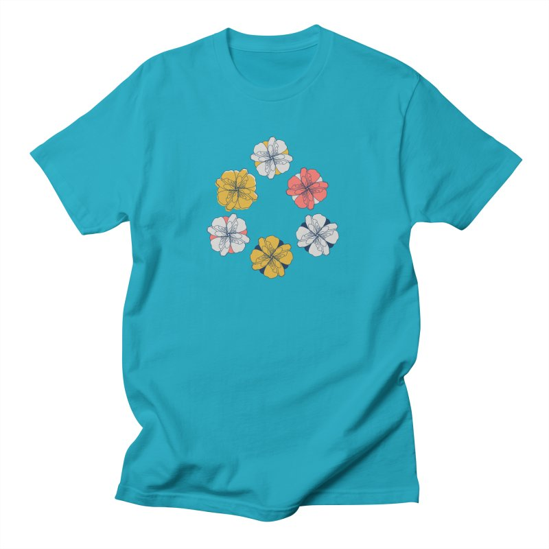 Springtime Floral Men's Regular T-Shirt by Svaeth's Artist Shop