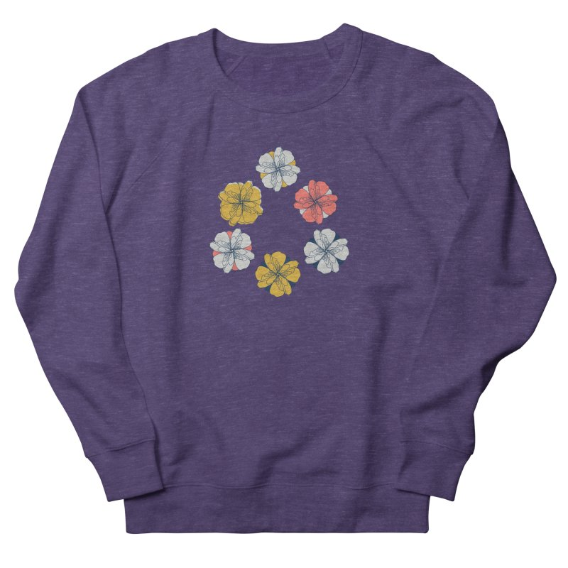 Springtime Floral Men's French Terry Sweatshirt by Svaeth's Artist Shop