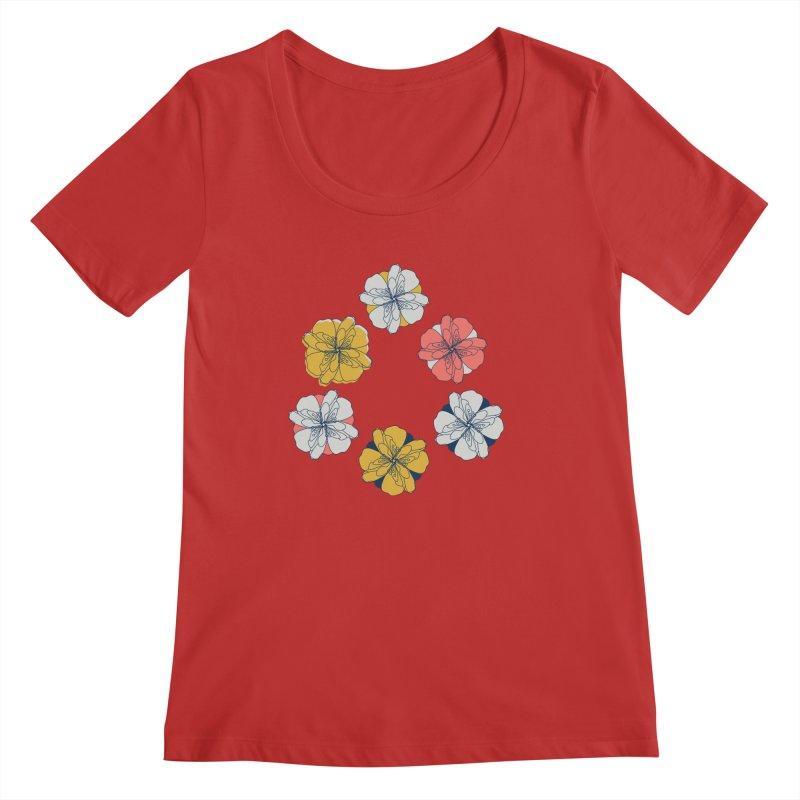 Springtime Floral Women's Regular Scoop Neck by Svaeth's Artist Shop