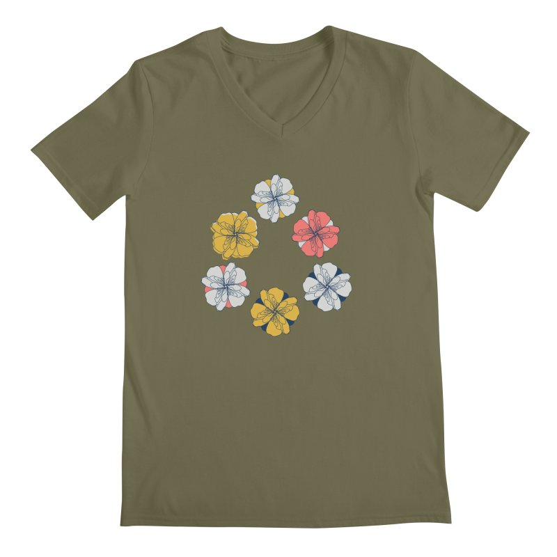 Springtime Floral Men's Regular V-Neck by Svaeth's Artist Shop