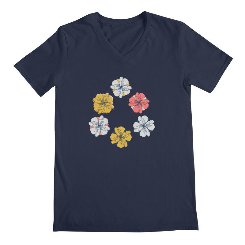 Springtime Floral Men's Regular V-Neck by Svaeth's Artist Shop