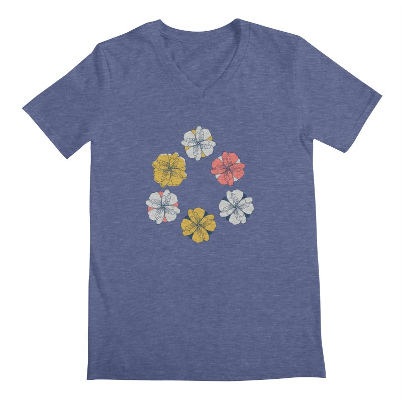 Springtime Floral Men's V-Neck by Svaeth's Artist Shop