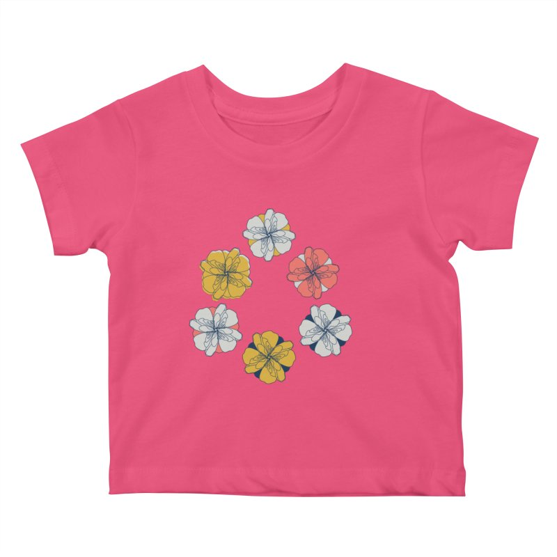 Springtime Floral Kids Baby T-Shirt by Svaeth's Artist Shop
