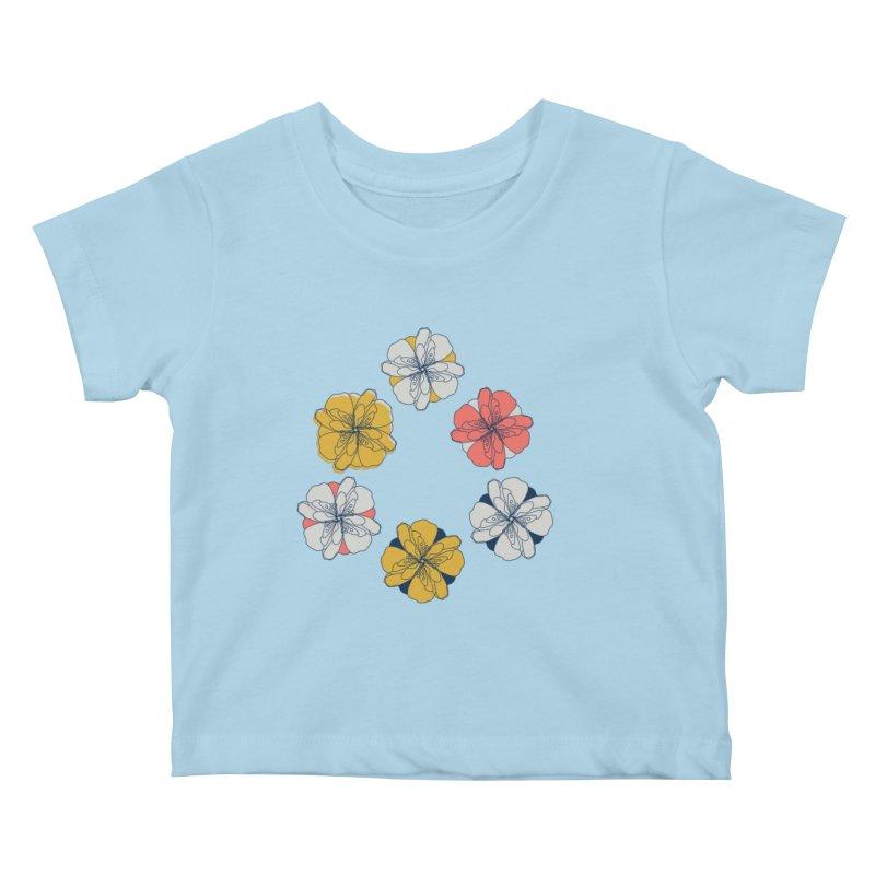 Springtime Floral Kids Baby T-Shirt by Svaeth's Artist Shop