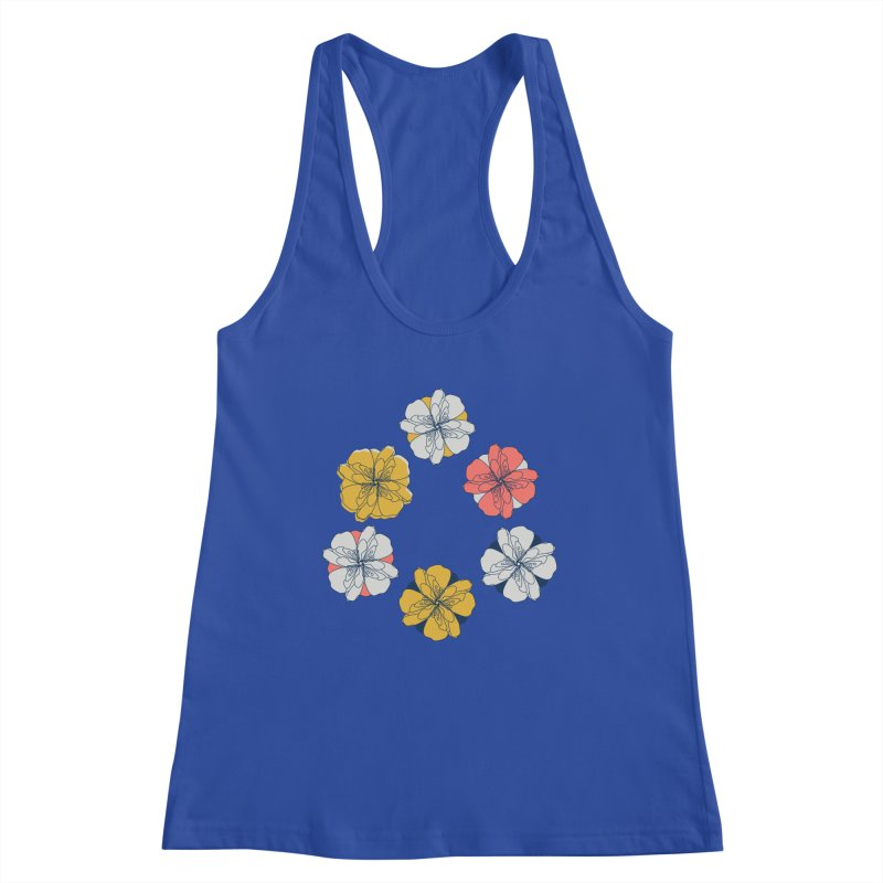 Springtime Floral Women's Racerback Tank by Svaeth's Artist Shop
