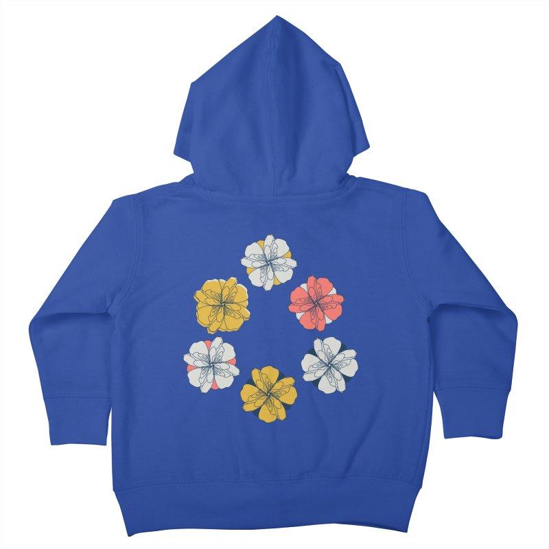 Springtime Floral Kids Toddler Zip-Up Hoody by Svaeth's Artist Shop