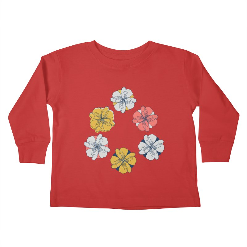 Springtime Floral Kids Toddler Longsleeve T-Shirt by Svaeth's Artist Shop