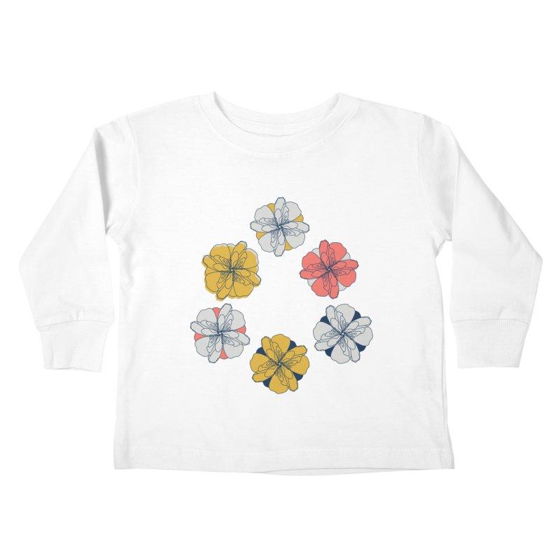 Springtime Floral Kids Toddler Longsleeve T-Shirt by Svaeth's Artist Shop