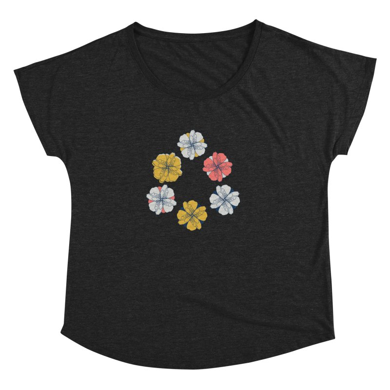 Springtime Floral Women's Scoop Neck by Svaeth's Artist Shop