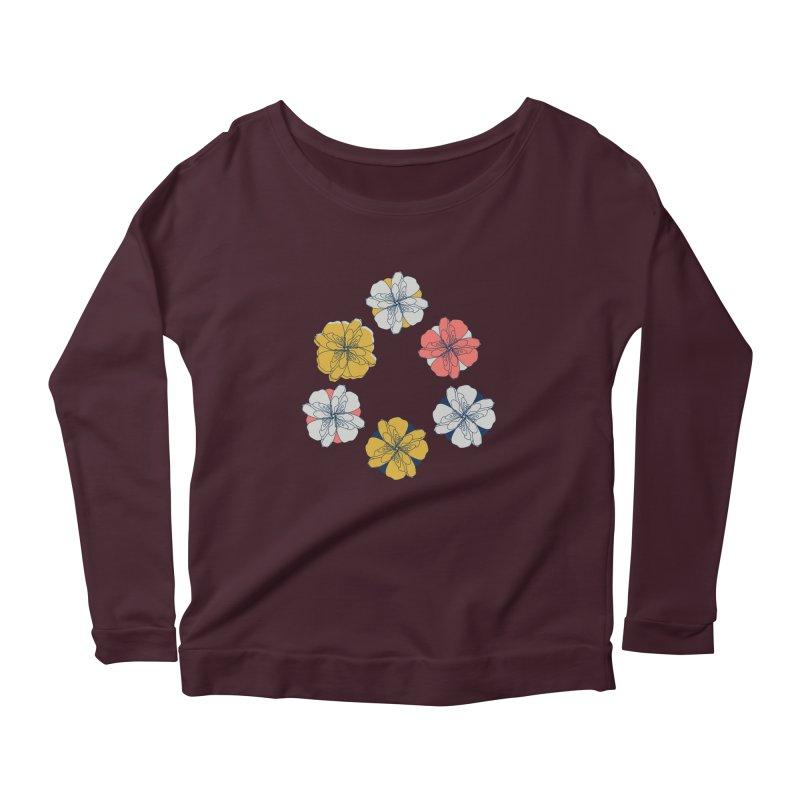 Springtime Floral Women's Scoop Neck Longsleeve T-Shirt by Svaeth's Artist Shop