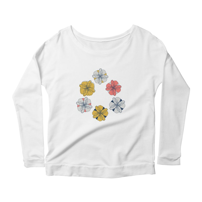 Springtime Floral Women's Scoop Neck Longsleeve T-Shirt by Svaeth's Artist Shop