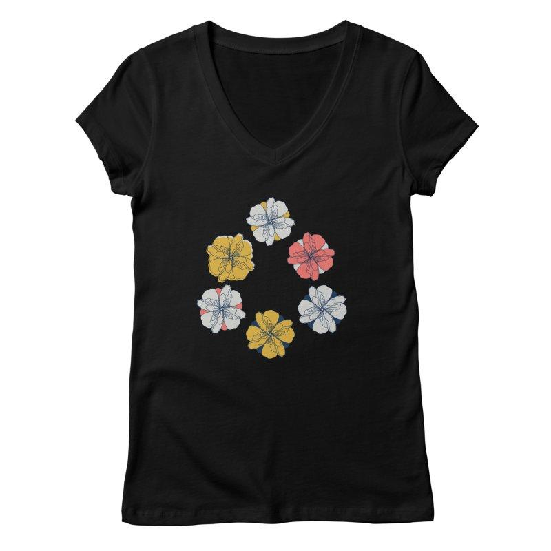 Springtime Floral Women's V-Neck by Svaeth's Artist Shop