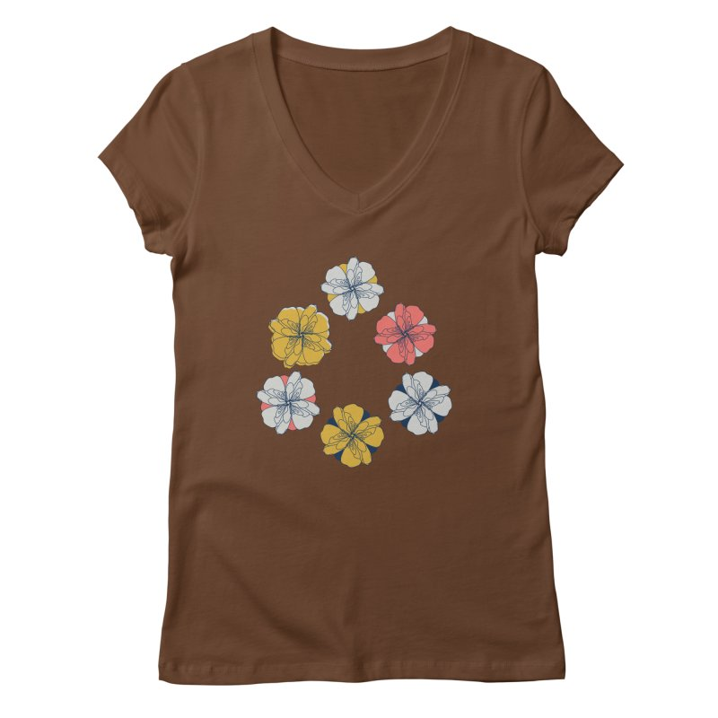 Springtime Floral Women's Regular V-Neck by Svaeth's Artist Shop