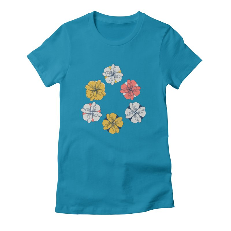 Springtime Floral Women's Fitted T-Shirt by Svaeth's Artist Shop