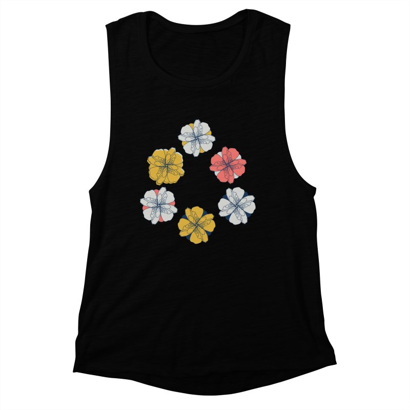 Springtime Floral Women's Muscle Tank by Svaeth's Artist Shop