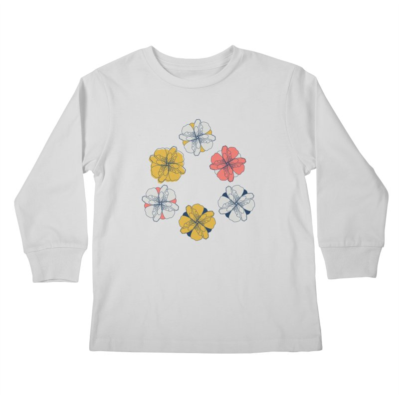 Springtime Floral Kids Longsleeve T-Shirt by Svaeth's Artist Shop
