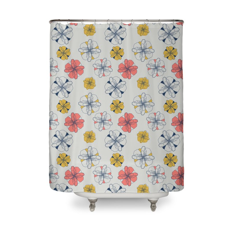 Springtime Floral Home Shower Curtain by Svaeth's Artist Shop