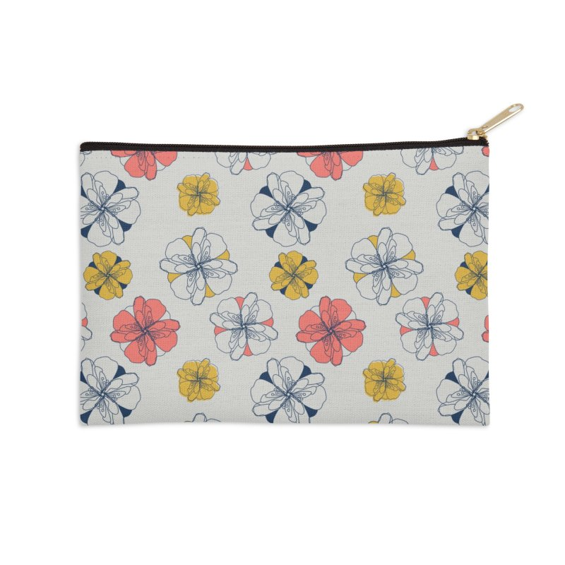 Springtime Floral Accessories Zip Pouch by Svaeth's Artist Shop