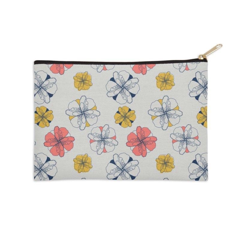 Springtime Floral Accessories Zip Pouch by Svaeth's Artist Shop