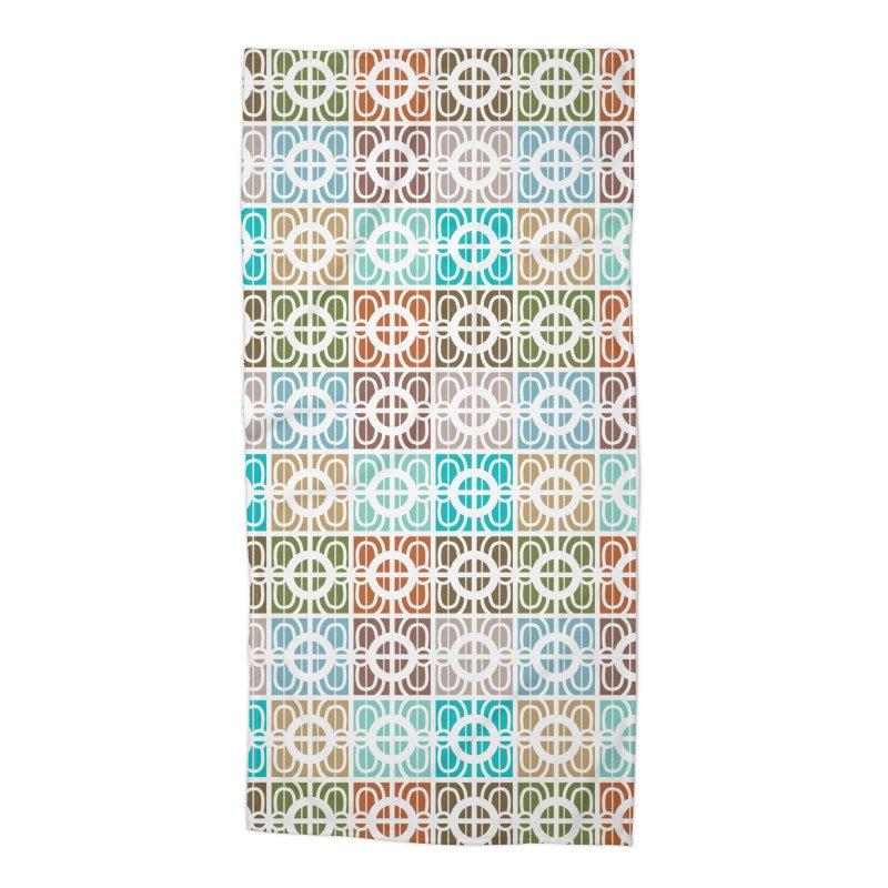 Desert Tiles Accessories Beach Towel by Svaeth's Artist Shop