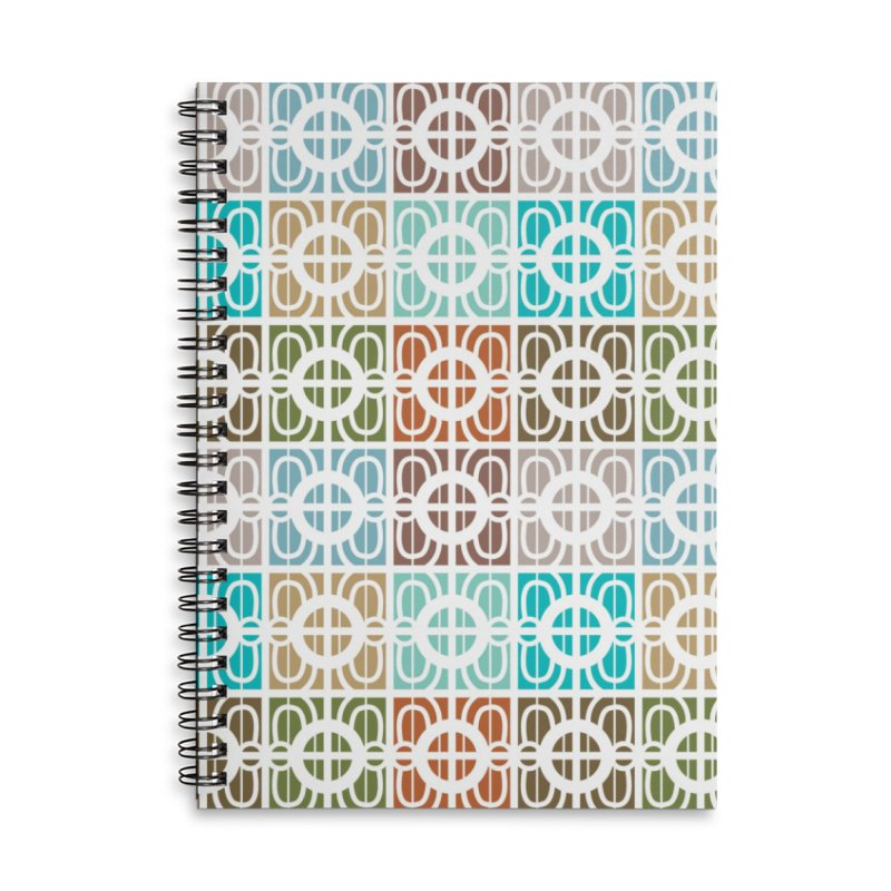 Desert Tiles Accessories Lined Spiral Notebook by Svaeth's Artist Shop