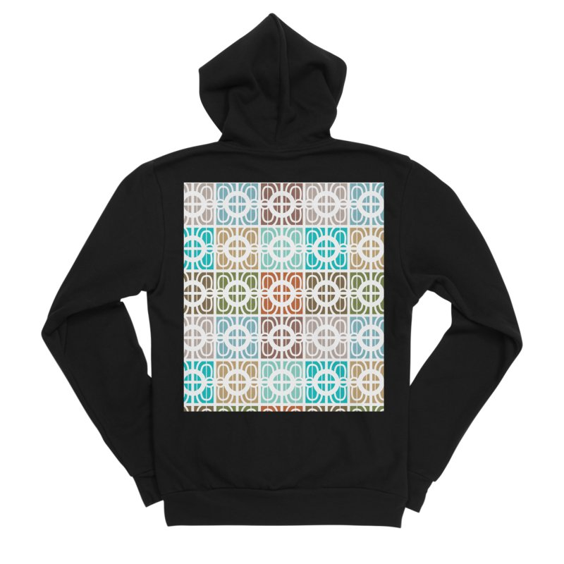Desert Tiles Women's Sponge Fleece Zip-Up Hoody by Svaeth's Artist Shop