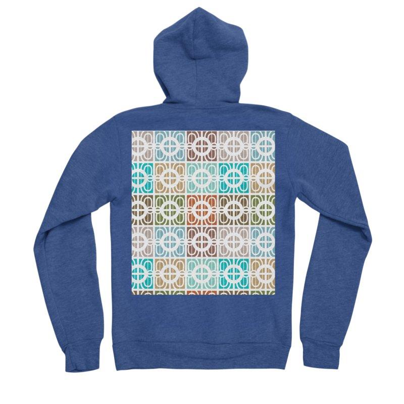 Desert Tiles Men's Sponge Fleece Zip-Up Hoody by Svaeth's Artist Shop