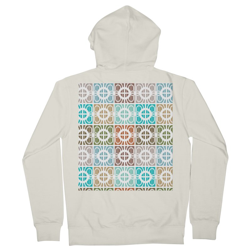 Desert Tiles Women's French Terry Zip-Up Hoody by Svaeth's Artist Shop
