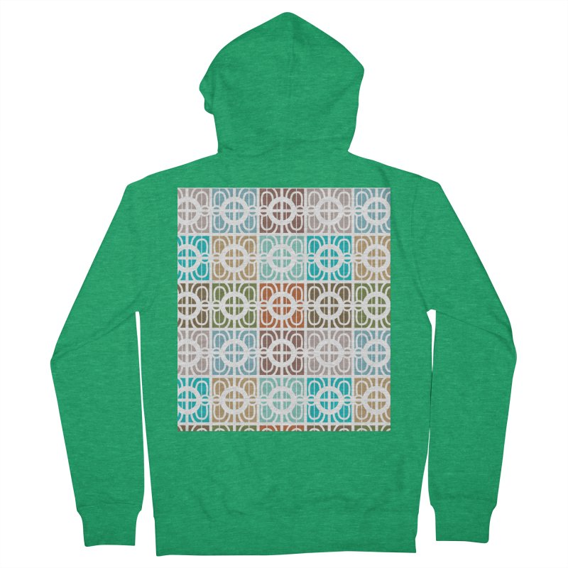 Desert Tiles Men's French Terry Zip-Up Hoody by Svaeth's Artist Shop