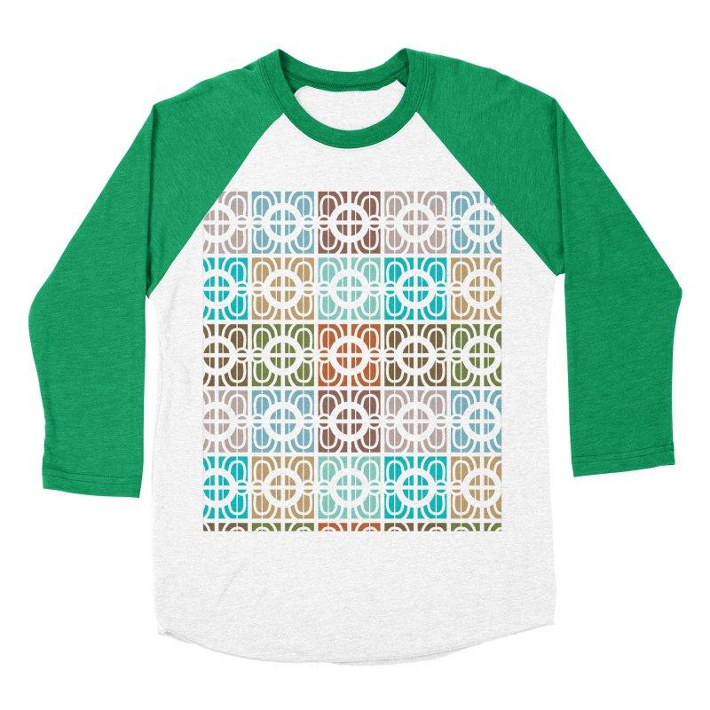 Desert Tiles Men's Baseball Triblend Longsleeve T-Shirt by Svaeth's Artist Shop