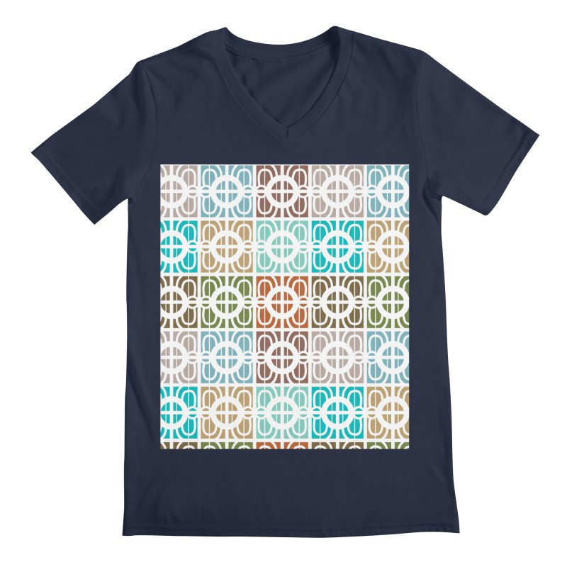 Desert Tiles Men's V-Neck by Svaeth's Artist Shop